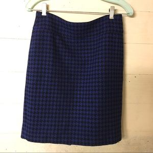 Ann Taylor Wool Houndstooth Skirt